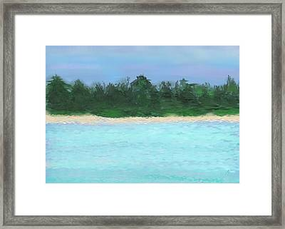 The Island Framed Print by Janet Palaggi