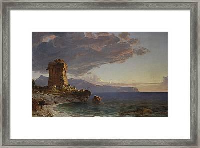 The Isle Of Capri Framed Print by Jasper Francis Cropsey