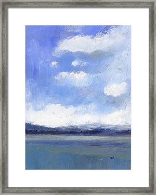 The Isle Of Wight From Portsmouth Part One Framed Print by Alan Daysh