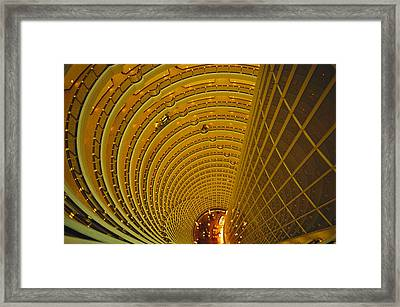 The Jin Mao Tower Looking Framed Print by Justin Guariglia