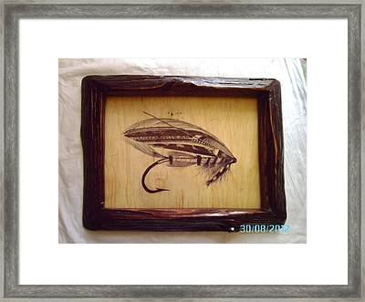 The Jock Scott Salmon Fly Framed Print by Peter Kaniaru