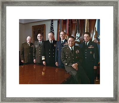 The Joint Chiefs Of Staff Gather For An Framed Print by Everett