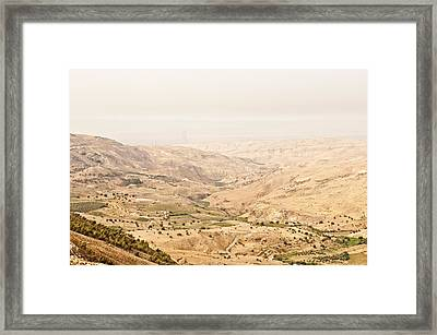 The Jordan Valley, Jordan Framed Print by Jim Foley