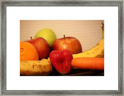 The Joy Of Fruit At Bedtime Framed Print by Andrea Nicosia