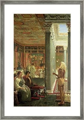 The Juggler Framed Print by Sir Lawrence Alma-Tadema