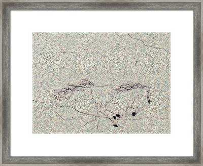The Jumping Horse Framed Print by Odon Czintos