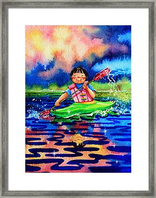 The Kayak Racer 11 Framed Print by Hanne Lore Koehler