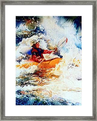 The Kayak Racer 19 Framed Print by Hanne Lore Koehler