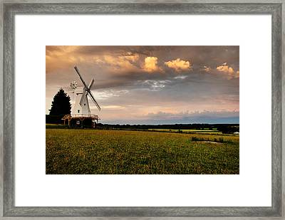 The Kentish Smock Mill Framed Print by Jeremy Sage