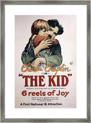 The Kid, Jackie Coogan, Charles Framed Print by Everett