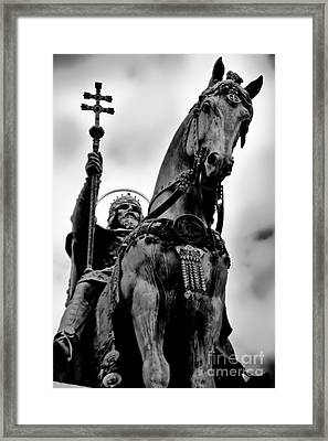The King's Horse Framed Print by Syed Aqueel