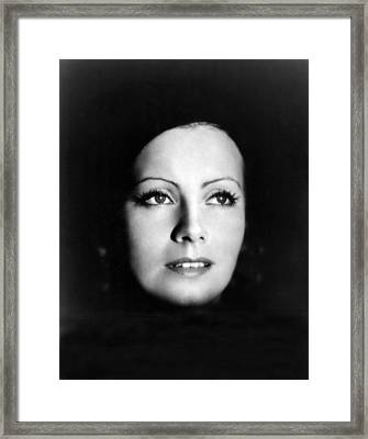 The Kiss, Greta Garbo, Portrait Framed Print by Everett