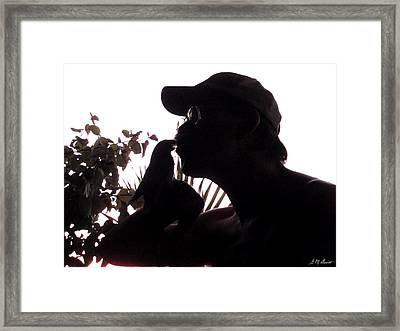 The Kiss Framed Print by Michael Durst