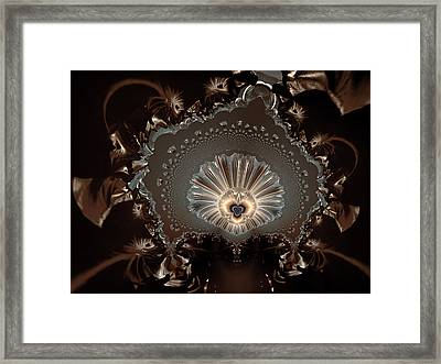 The Lady And Her Lace Framed Print by Claude McCoy