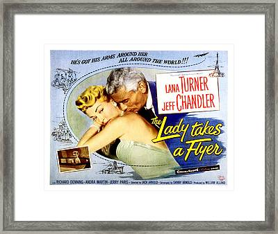 The Lady Takes A Flyer, Lana Turner Framed Print by Everett