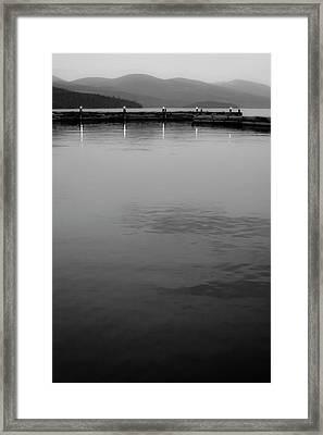 The Lake At Dusk Framed Print by David Patterson