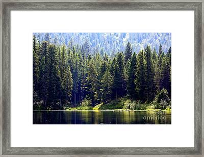 The Lake Framed Print by Carol Groenen