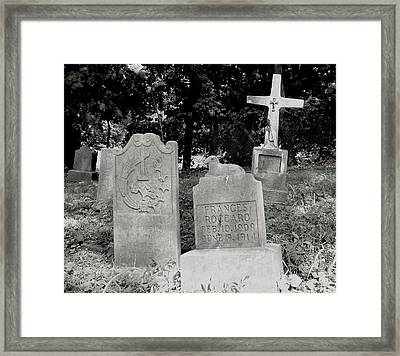 The Lamb And Cross Framed Print by Felix Concepcion