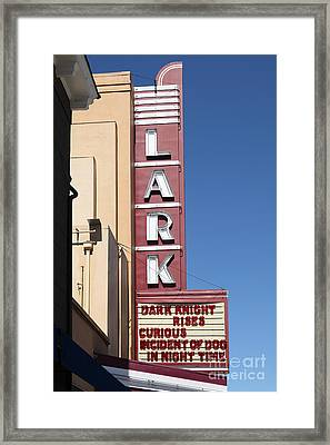 The Lark Theater In Larkspur California - 5d18490 Framed Print by Wingsdomain Art and Photography