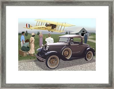 The Last Barnstormer Framed Print by Richard Herron