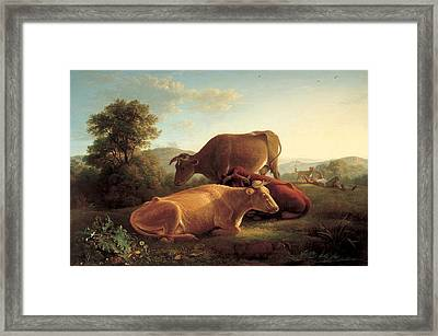The Last Gleam Of The Setting Sun Framed Print by John Glover