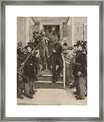 The Last Moments Of John Brown, Etching Framed Print by Everett