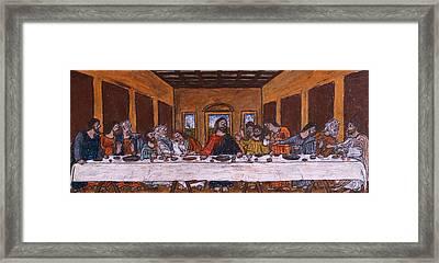 The Last Supper After Da Vinci Framed Print by Jacob Stempky