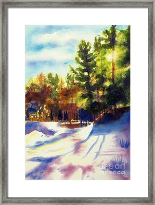The Last Traces II Framed Print by Kathy Braud