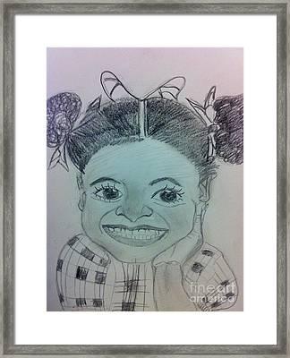 The Late Jahessye Shockley Framed Print by Charita Padilla
