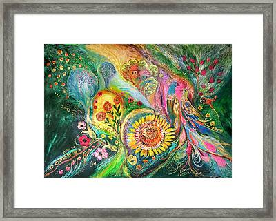 The Levant Village Framed Print by Elena Kotliarker