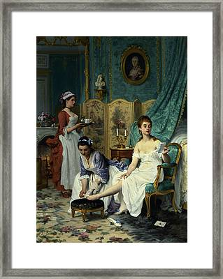 The Levee Framed Print by Joseph Caraud