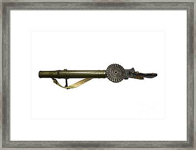 The Lewis Automatic Machine Gun Framed Print by Andrew Chittock