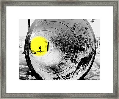The Light At The End Of The Tunnel Framed Print by Valentino Visentini