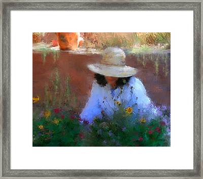 The Light Of The Garden Framed Print by Colleen Taylor