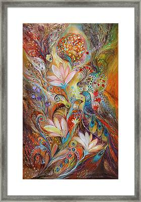 The Lilies And Bell Flowers Framed Print by Elena Kotliarker