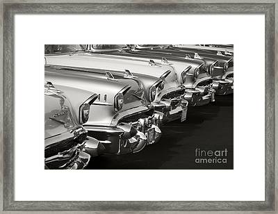 The Lineup Framed Print by Dennis Hedberg