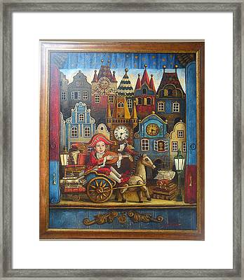 The Little Mozart Framed Print by Victoria Francisco