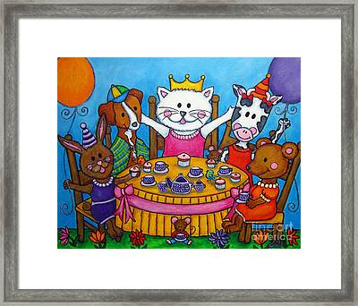 The Little Tea Party Framed Print by Lisa  Lorenz