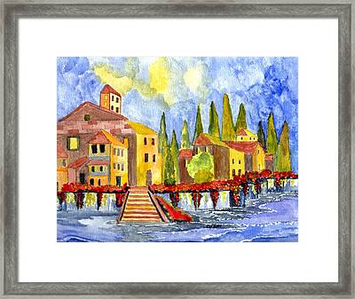 The Little Village Framed Print by Connie Valasco