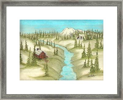 The Lodge Framed Print by Nick Ambler
