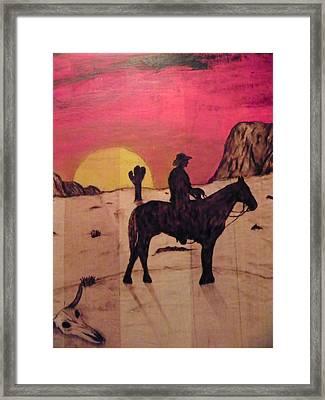The Lone Cowboy Framed Print by Andrew Siecienski