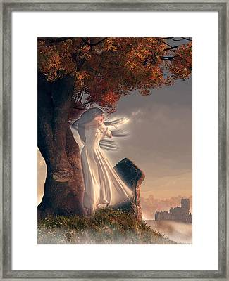 The Lonely Ghost Of October Framed Print by Daniel Eskridge