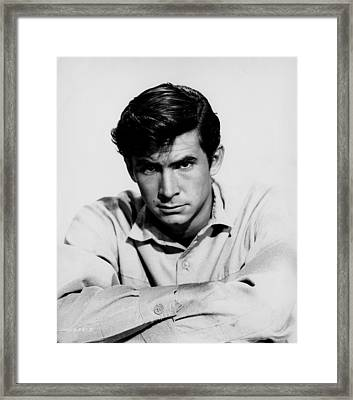 The Lonely Man, Anthony Perkins, 1957 Framed Print by Everett