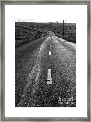 The Long Road Home . 7d9898 . Black And White Framed Print by Wingsdomain Art and Photography
