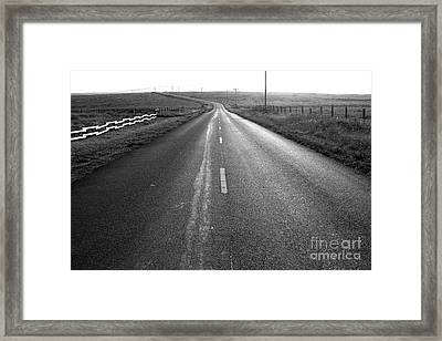 The Long Road Home . 7d9903 . Black And White Framed Print by Wingsdomain Art and Photography