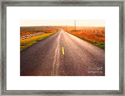 The Long Road Home . Painterly Style Framed Print by Wingsdomain Art and Photography