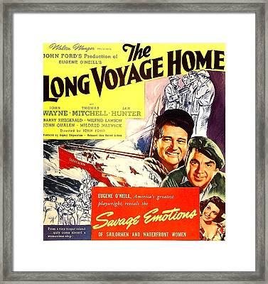 The Long Voyage Home, John Wayne Framed Print by Everett