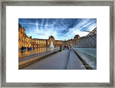 The Louvre Paris Framed Print by Charuhas Images