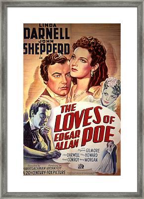 The Loves Of Edgar Allen Poe, Shepperd Framed Print by Everett