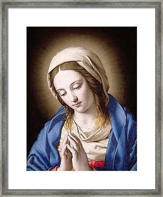The Madonna Praying Framed Print by Il Sassoferrato